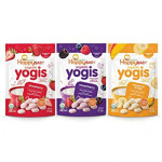 Happy Family Organics, Organic Yogis, Freeze Dried Yogurt & Fruit Snacks-R.Stock