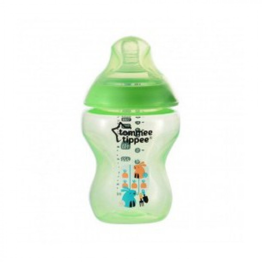 Tommee Tippee Closer To Nature Tinted Bottle 260ml/9oz- Green (1 Pack)