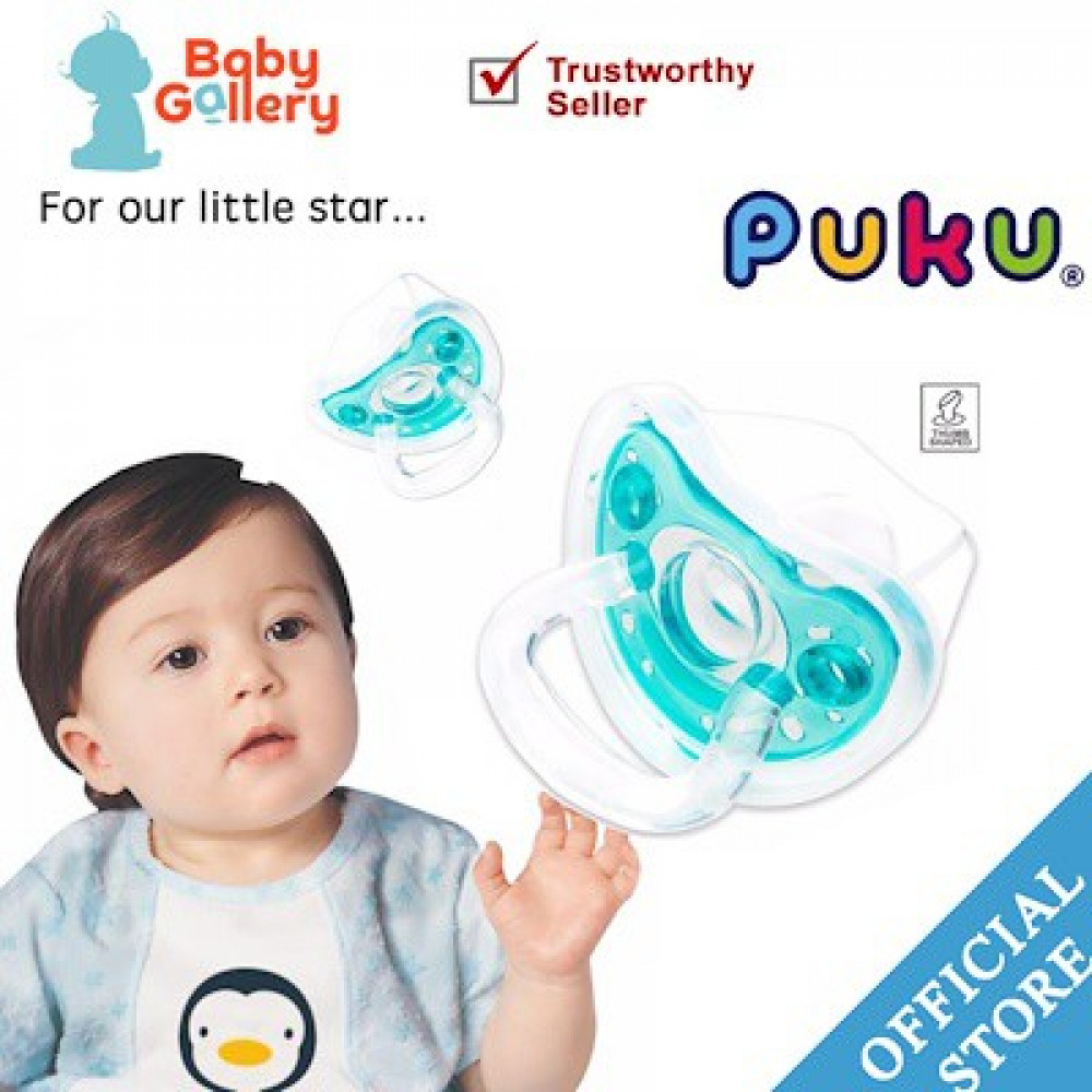 Puku PPSU Soft Silcone Pacifier 0M+-Ready Stock
