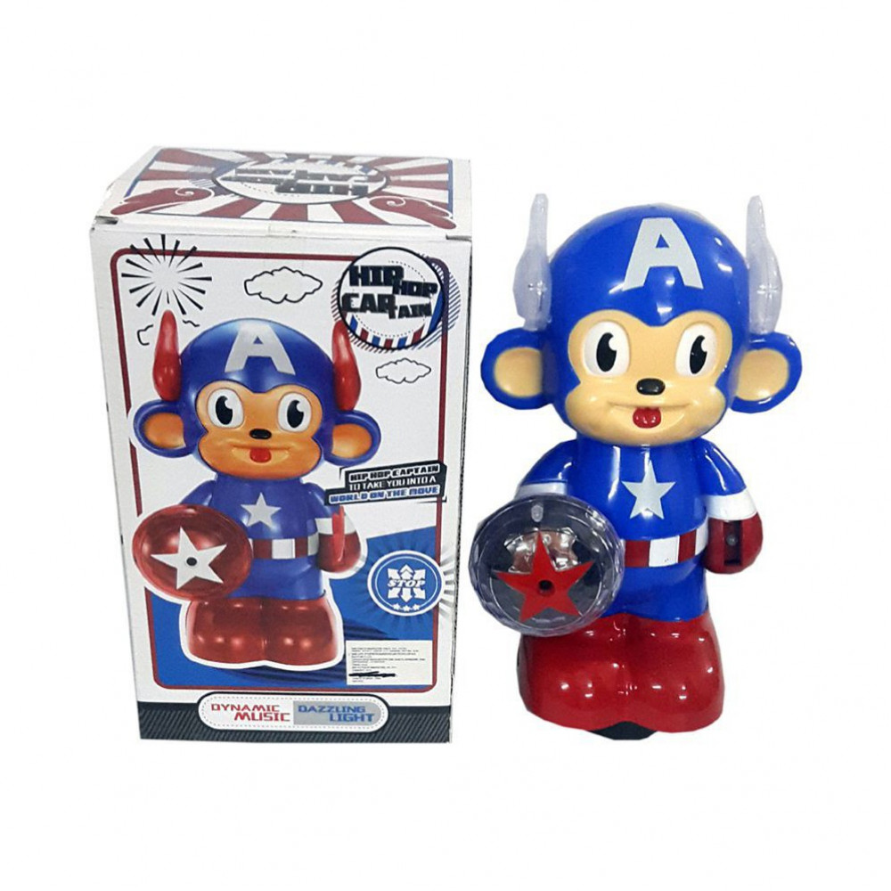 Blue Lotus Hip Hop Captain Dynamic Musical Toys-Ready Stock