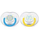 Avent Soother Contemporary Freeflow (6-18 Month) Twin Pack- Blue