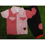 Baby Boy Semi Formal Romper/ Jumper(black/red)-Ready Stock