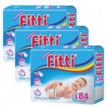FITTI Tape Diaper Mega Pack - S84/M72/L60/XL52-Ready Stock