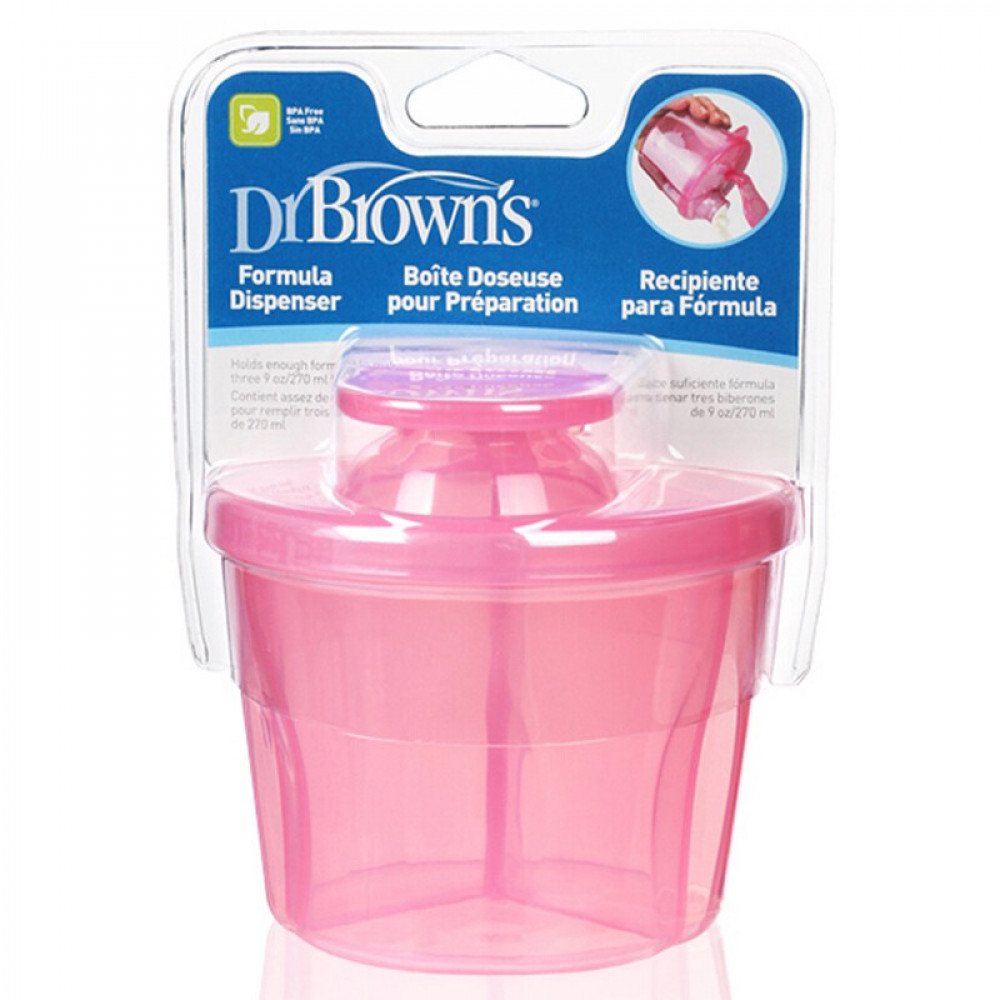 Dr Brown's Milk Powder Dispender Pink -10oz/300ml-Ready Stock