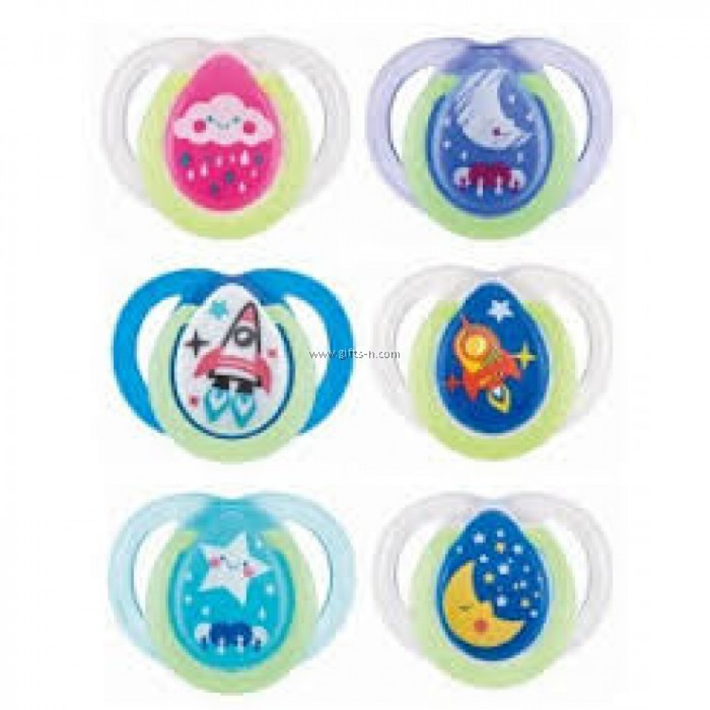 Tommee Tippee CTN Night Time Soother 0-6 Months (2pcs) -Ready Stock