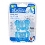 Dr.Brown's One Piece Pacifier 2 Pack Assorted Colors-Ready Stock