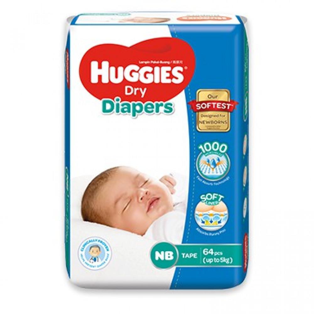 Huggies Dry Jumbo Pack Newborn NB64-Ready Stock