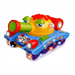 Toyshine Musical Crazy Tank Toy with Bump and Go Action, 3D Lights, Music-Ready Stock