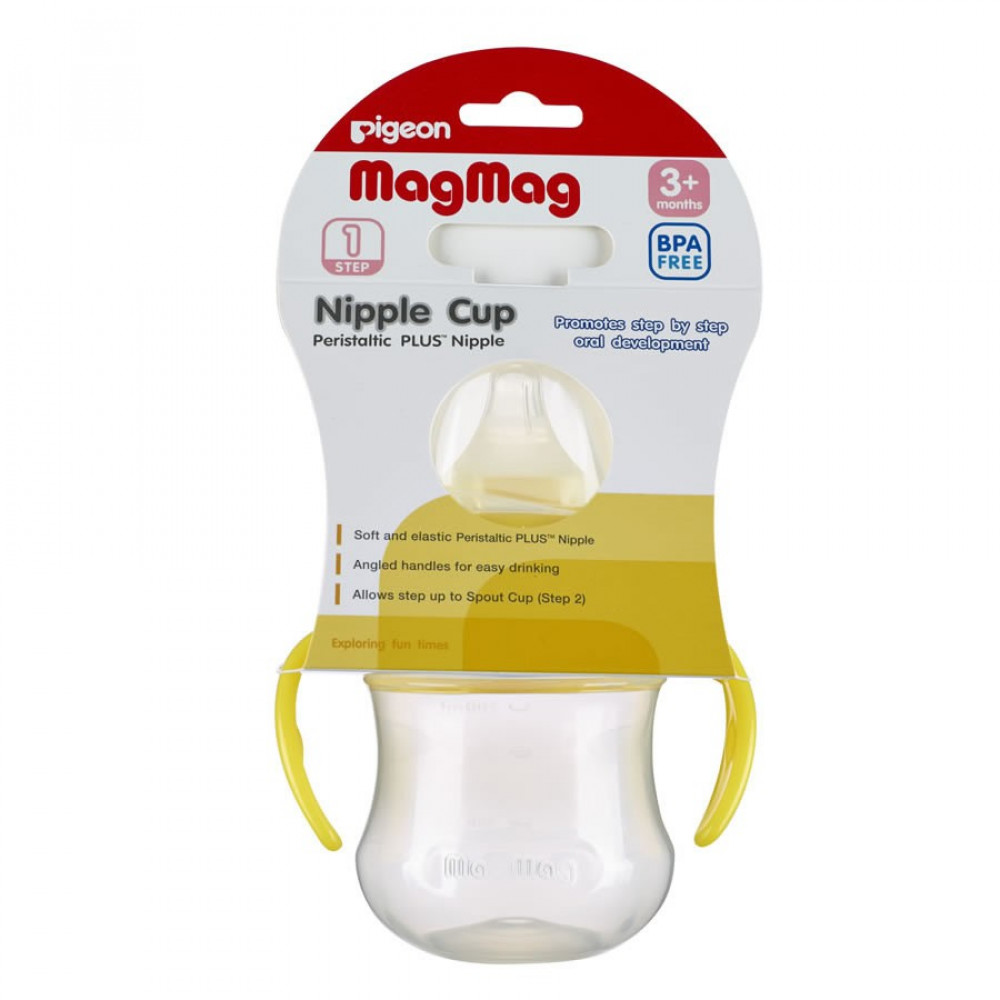 Pigeon Mag Mag Nipple Cup 200ml/7oz -3+months -yellow-Ready Stock