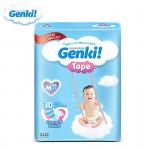 Genki Diaper Tape S82/M75/L62/XL48 -Ready Stock