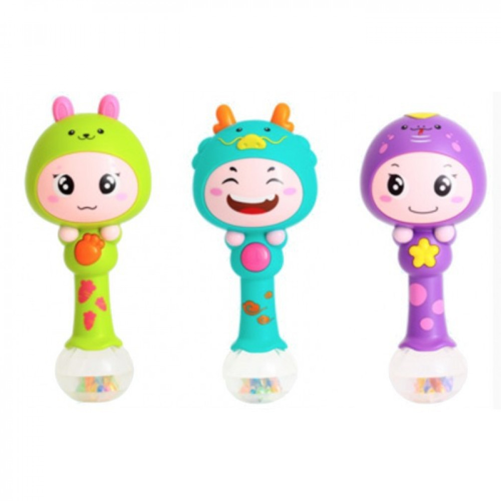 Baby Rattle Toy With Music Shaking Toys-Ready Stock