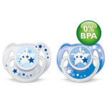 Avent Soother Night Time (6-18 Month) Twin Pack
