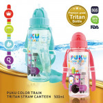 Puku Train Tritan Straw Canteen 500ML-Ready Stock