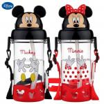 Disney Mickey Mouse & Friend Tritan Straw Bottle 500ML-Ready Stock