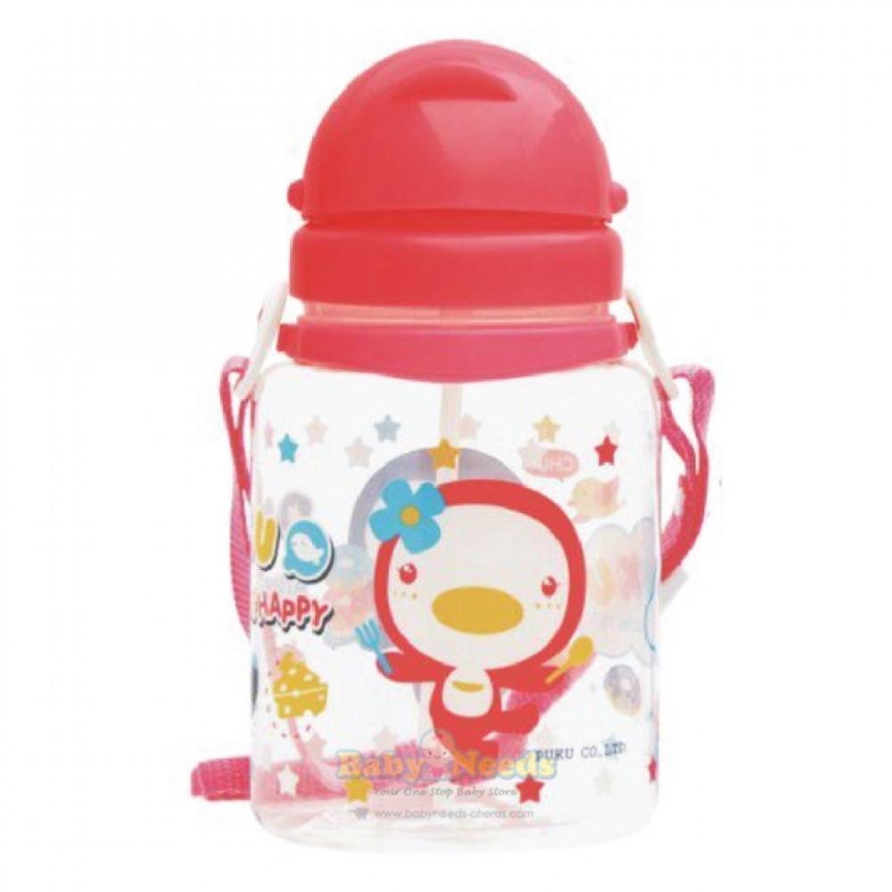 Puku Baby Pop Up Straw Water Bottle 800ml-Ready Stock