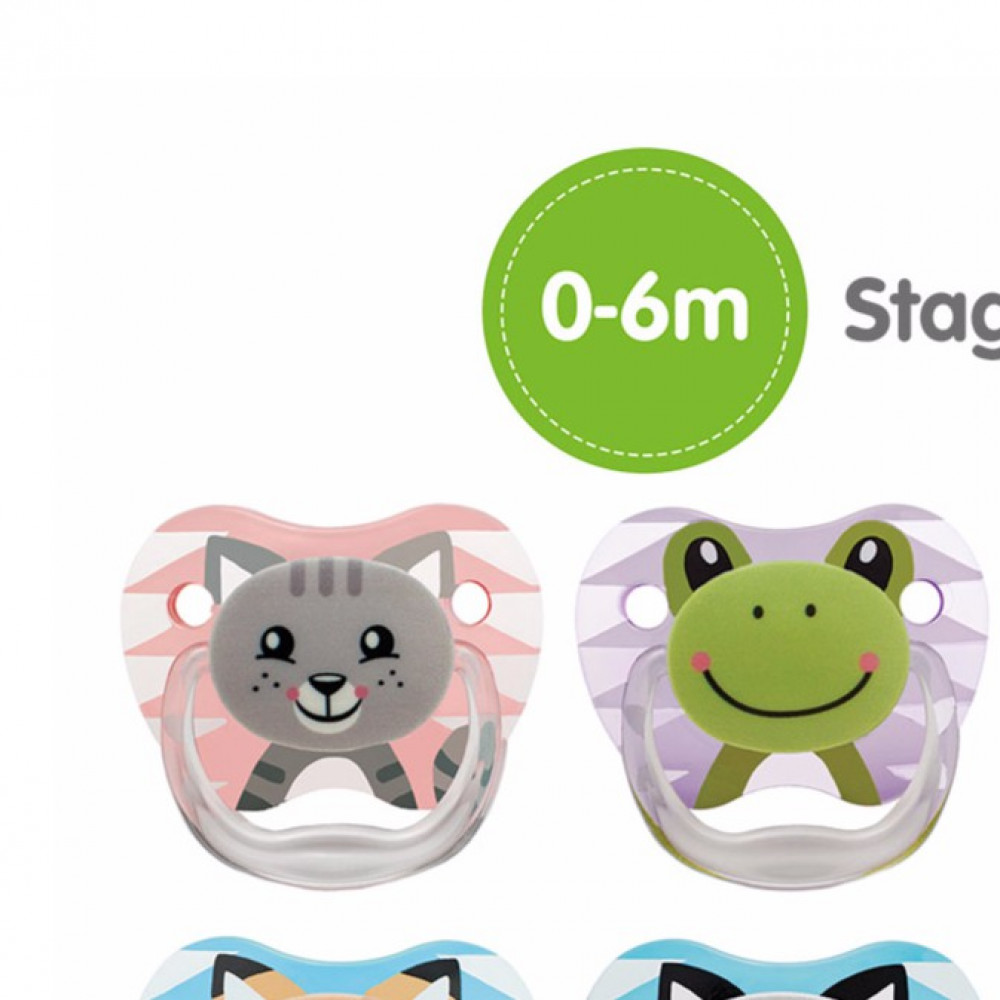 Dr Brown's Preven Soother Twin Pack 0-6M Silicone-Ready Stock