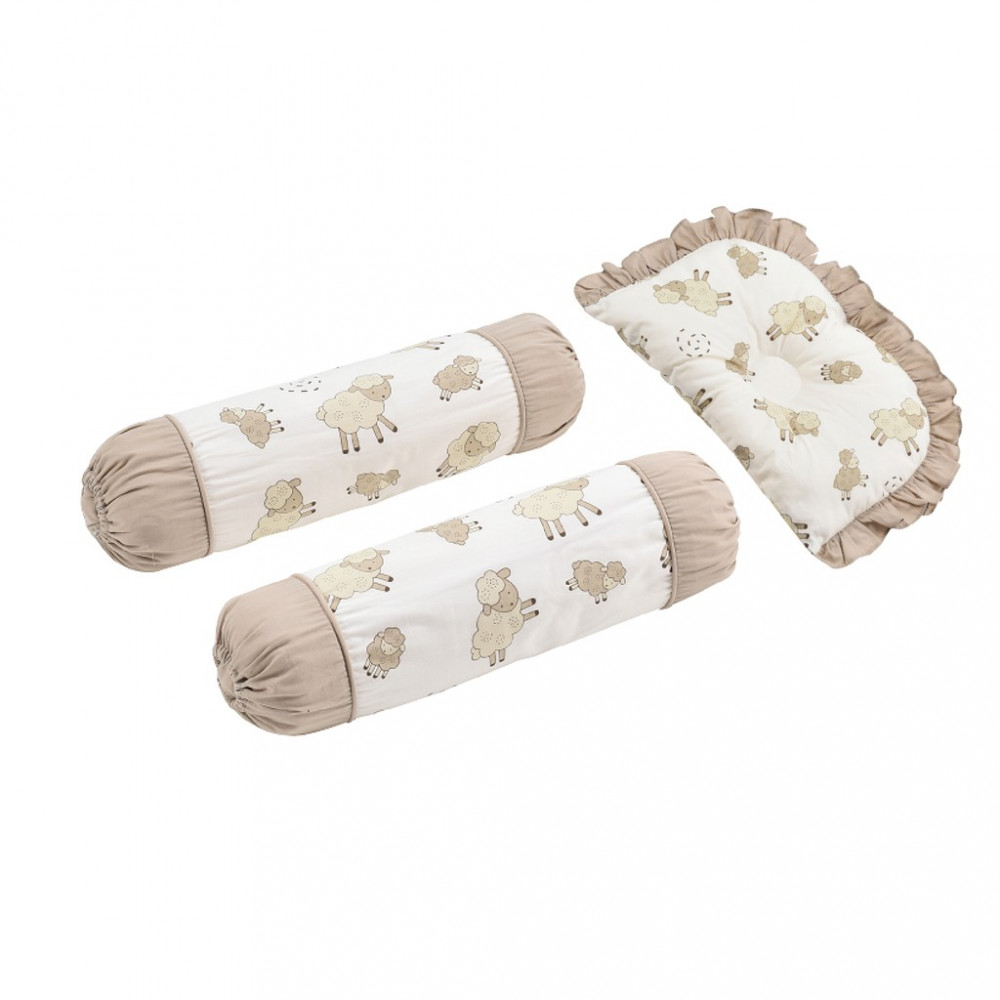 Babylove 3 In 1 Dimple Pillow & Bolster Set-Ready Stock