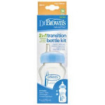 Dr.Brown's Natural Flow 2IN1 Transition Bottle Kit 90Z/270ML-Ready Stock