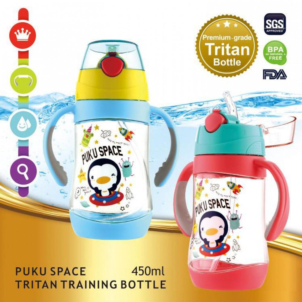 PUKU Space Tritan Baby Training Cup 450ml-Ready Stock