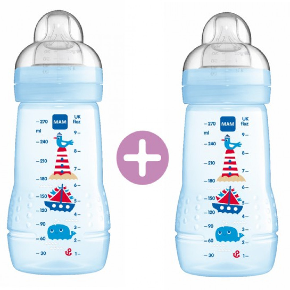 MAM Easy Active Baby Feeding Bottle 270ml - Double Pack-Ready Stock
