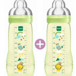 MAM Easy Active Baby Feeding Bottle 330ml - Double Pack-Ready Stock