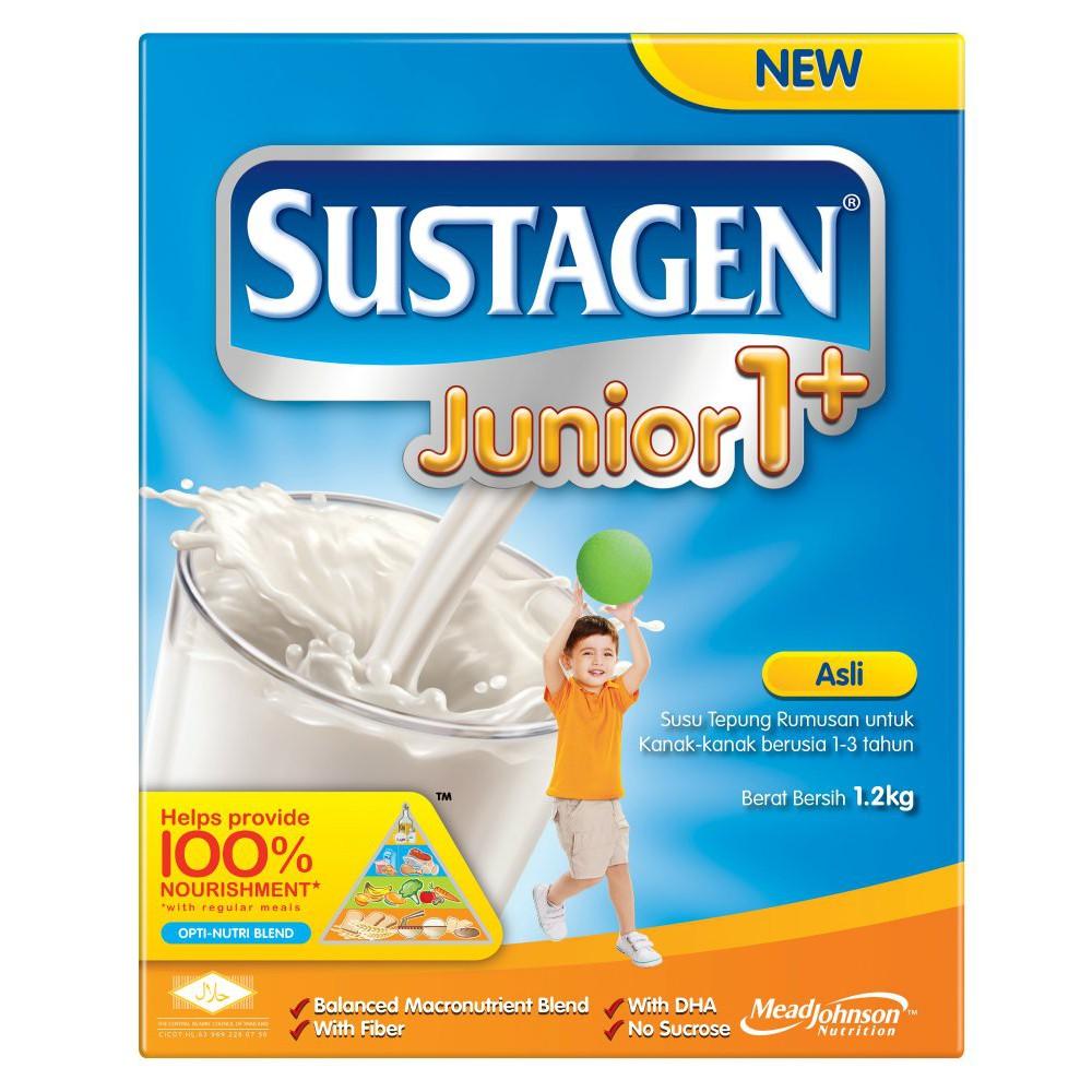 Sustagen Junior 1+ Milk Powder 1.2kg - Asli / Vanila