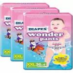 Diapex Wonder Pants Baby Diapers Super Jumbo Pack 3Pek--Ready Stock