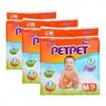 Petpet Tape Diapers Mega Pack Size S(82) / M(72) / L(60) / XL(48) - 3 PEK