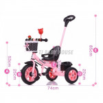Baby Bicycle Children Trcycle Ride On Free Safety Handle-Ready Stock