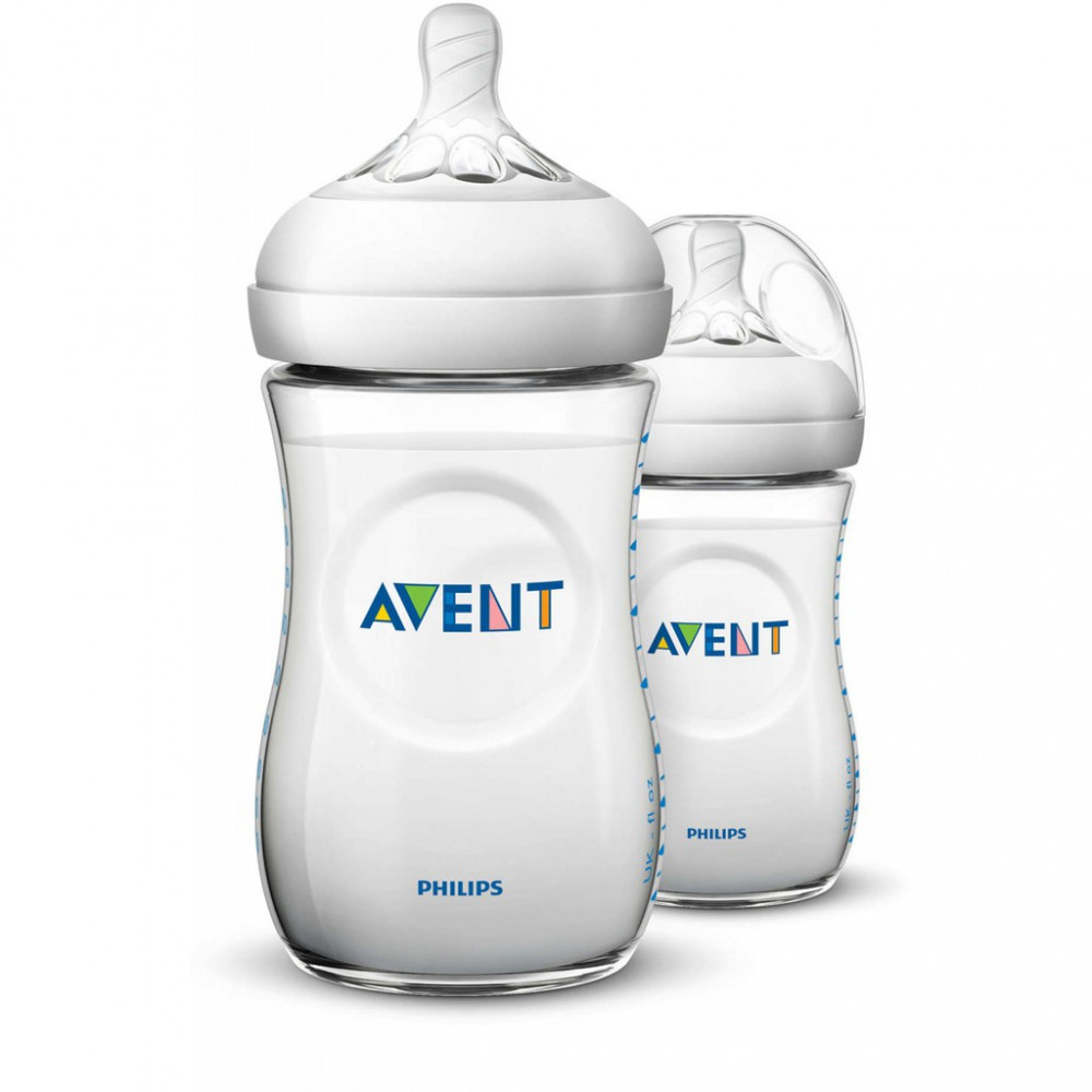 Avent Natural Bottle 9oz / 260ml Twin Pack-Ready Stock