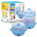 Autumnz - 2-in-1 Electric Steriliser & Food Steamer (Blue)-Ready Stock