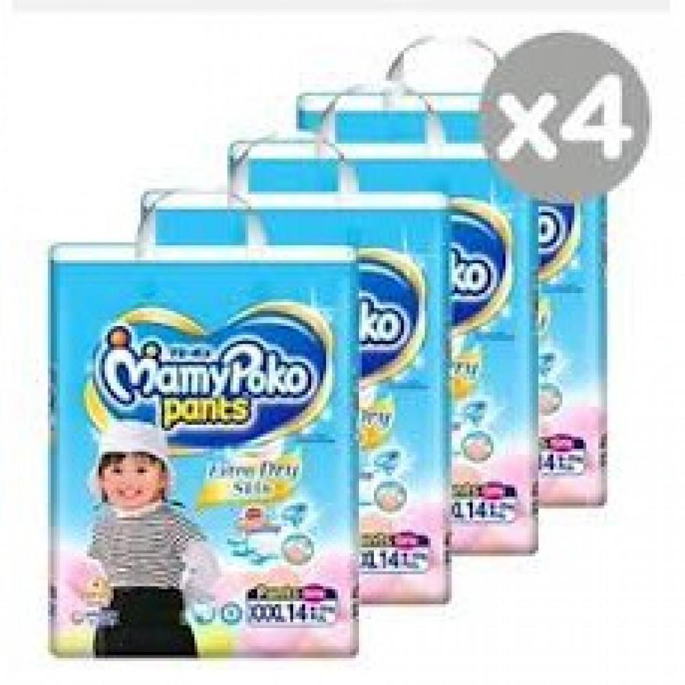 MamyPoko Extra Dry Skin Pants BOY/Girl XXXL14 (18-35kg)-Ready Stock