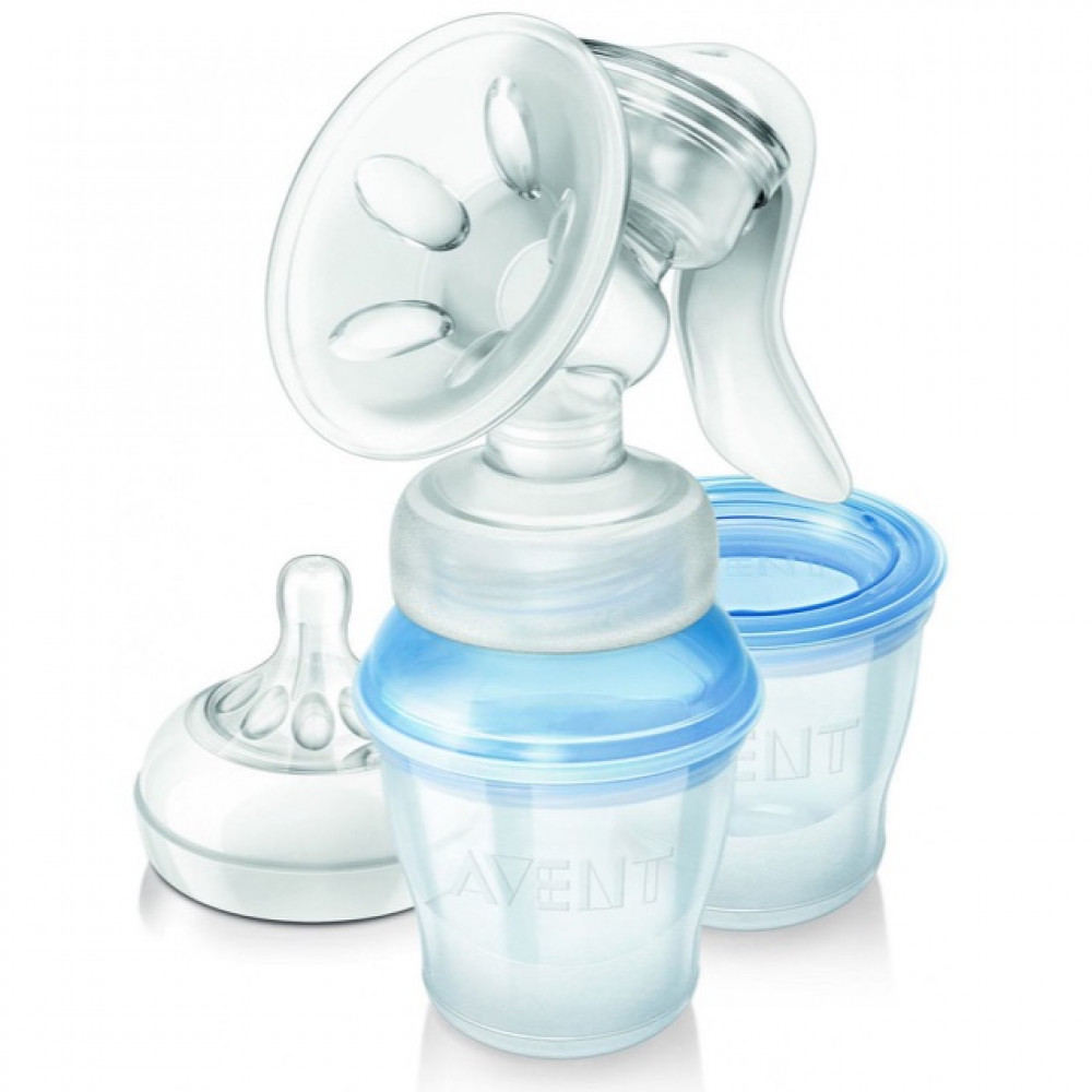 Avent Natural Manual Breast Pump with Milk Storage Cups-Ready Stock