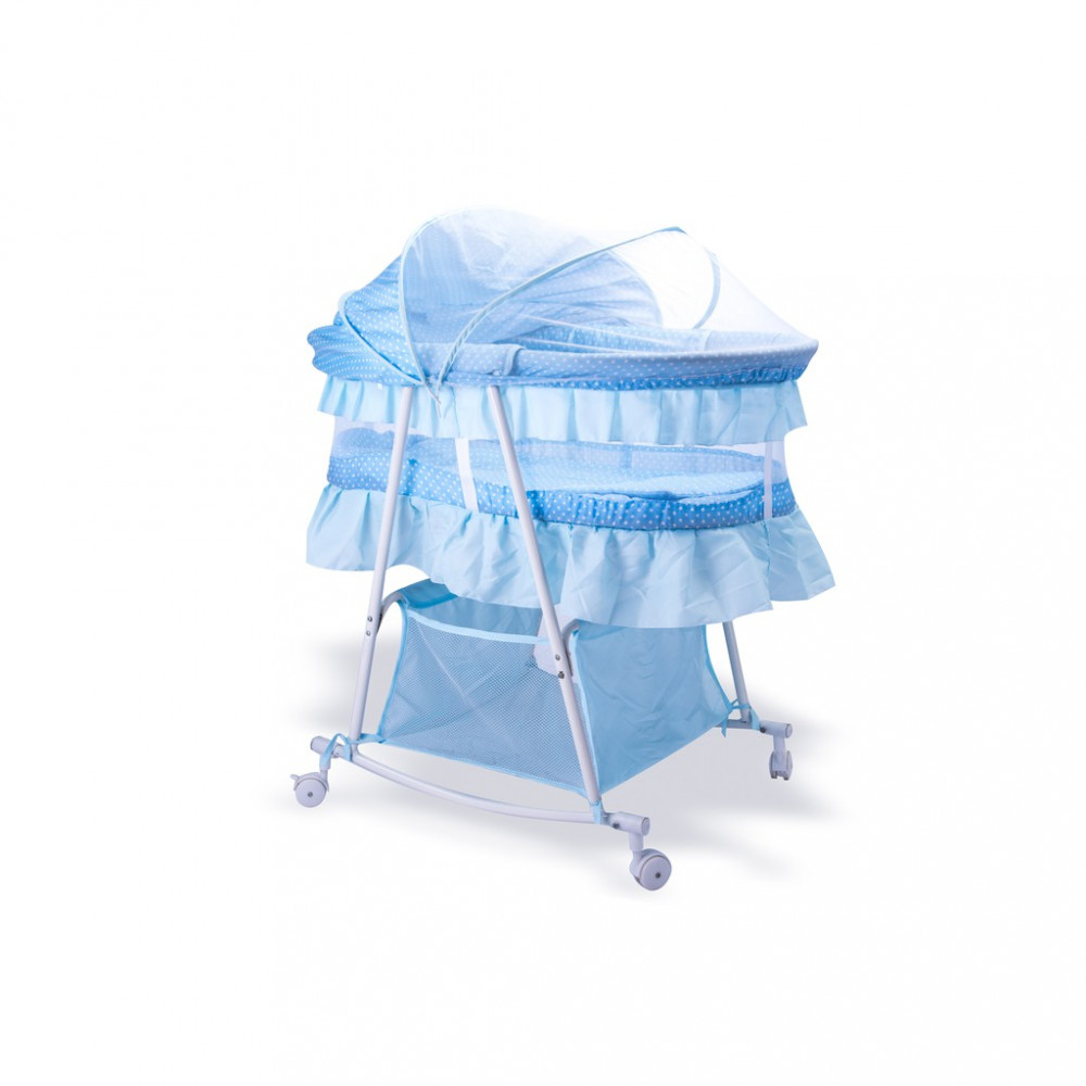 Babylove 100% Cotton Rockable Basket With Pillow-Ready Stock