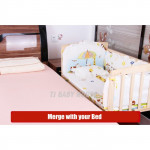 Baby Cradle Cots Bed Baby Bed With Wheels ( 100cm X 56cm )-Ready Stock