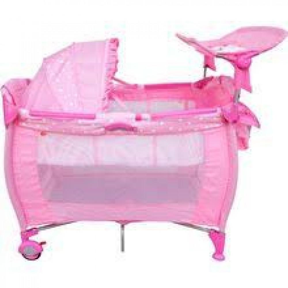 Babylove Ddr Playpen (Pink) + Changer+ Organizer-Ready Stock