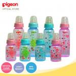Pigeon Flexible Peristaltic Slim Neck Nipple Clear PP Bottle 240ml-Ready Stock