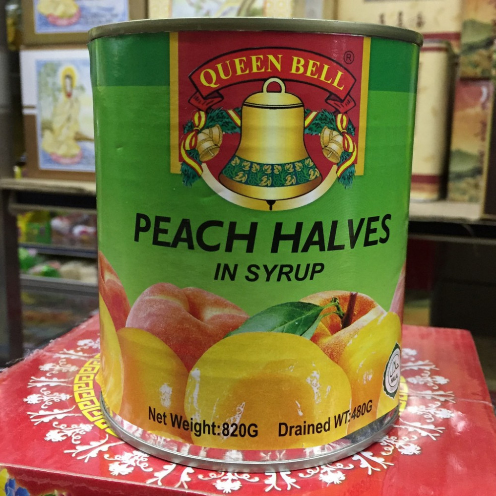 Queen Bell Peach Halves in Syrup 820g
