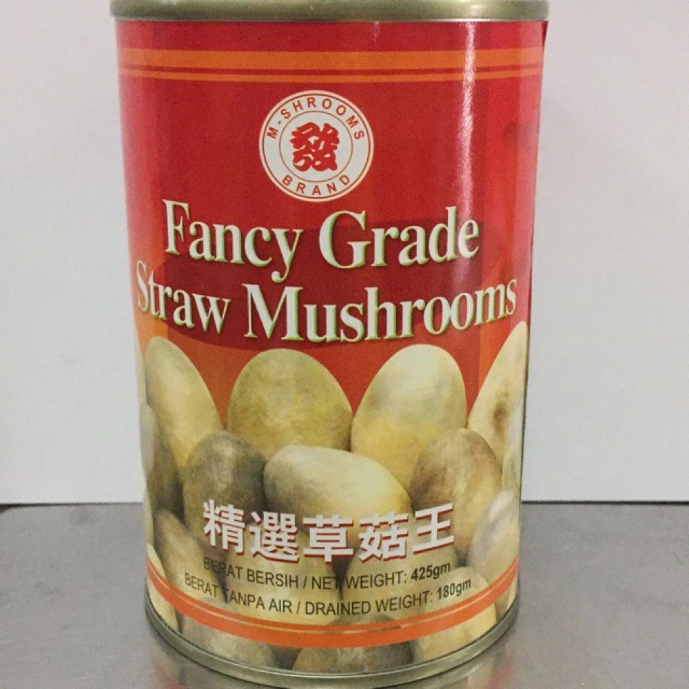 M-Shrooms Brand Fancy Grade Straw Mushrooms 425g