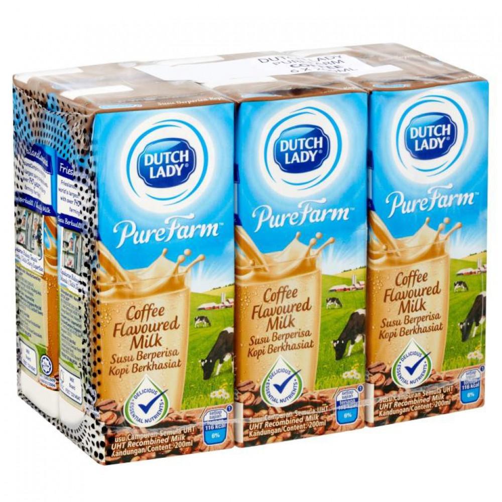 Dutch Lady Coffee Flavoured Milk 6x200ml