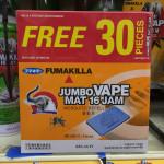 Fumakilla Jumbo Vape Mat 14H 39 Pieces with Varieties