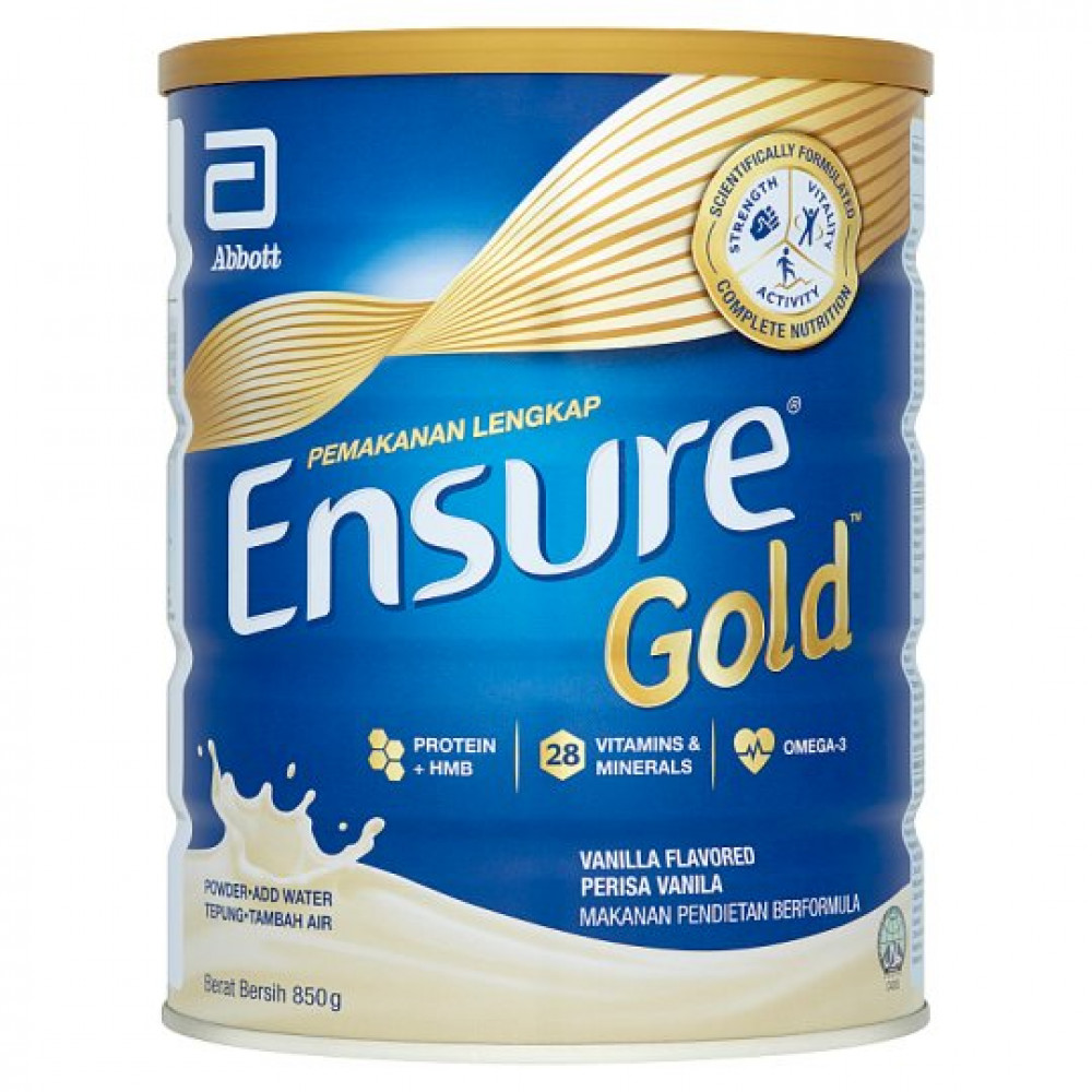 Abbott Ensure Gold Wheat/Vanilla Complete Nutrition Powder 850g