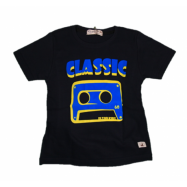 image of BABY BOYS CLASSIC DARK BLUE T-SHIRT (FREE SHORTS) FLYNN COLLECTION