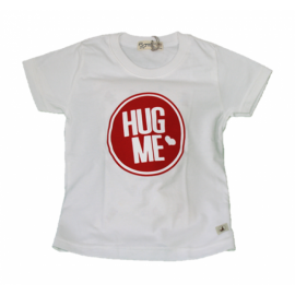 image of BABY BOYS HUG ME WHITE T-SHIRT (FREE SHORTS) FLYNN COLLECTION