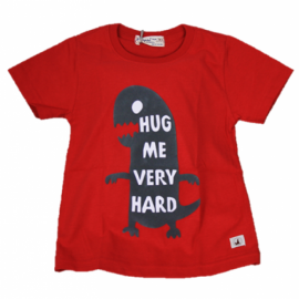image of BABY BOYS DINO HUG RED T-SHIRT (FREE SHORTS) FLYNN COLLECTION