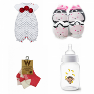 image of THE PERFECT BABY GIRLS NEWBORN GIFT SET