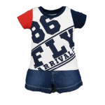 BABY BOYS FLIGHT CLUB 86 POLO & SHORTS