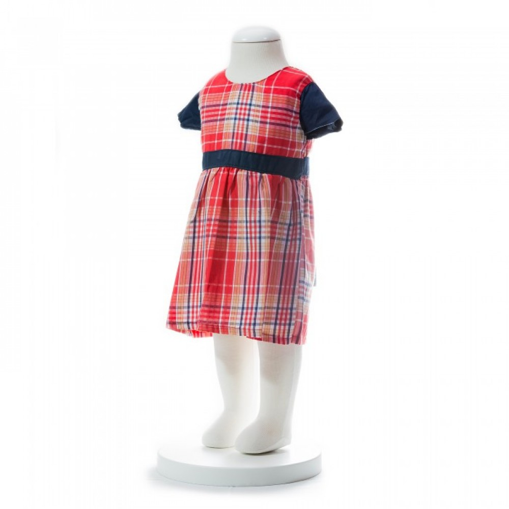 BABY GIRLS SUMMER STYLE LATTICE SHORT SLEEVE DRESS