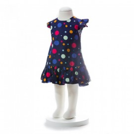 image of BABY GIRLS SUMMER STYLE COLORFUL POLKA DOT DRESS