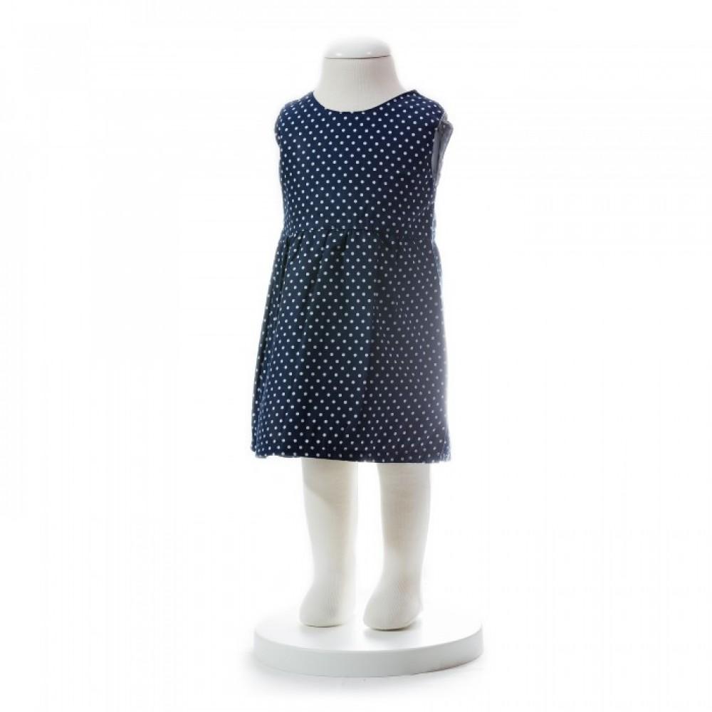 BABY GIRLS SUMMER STYLE RIBBON DOT DRESS